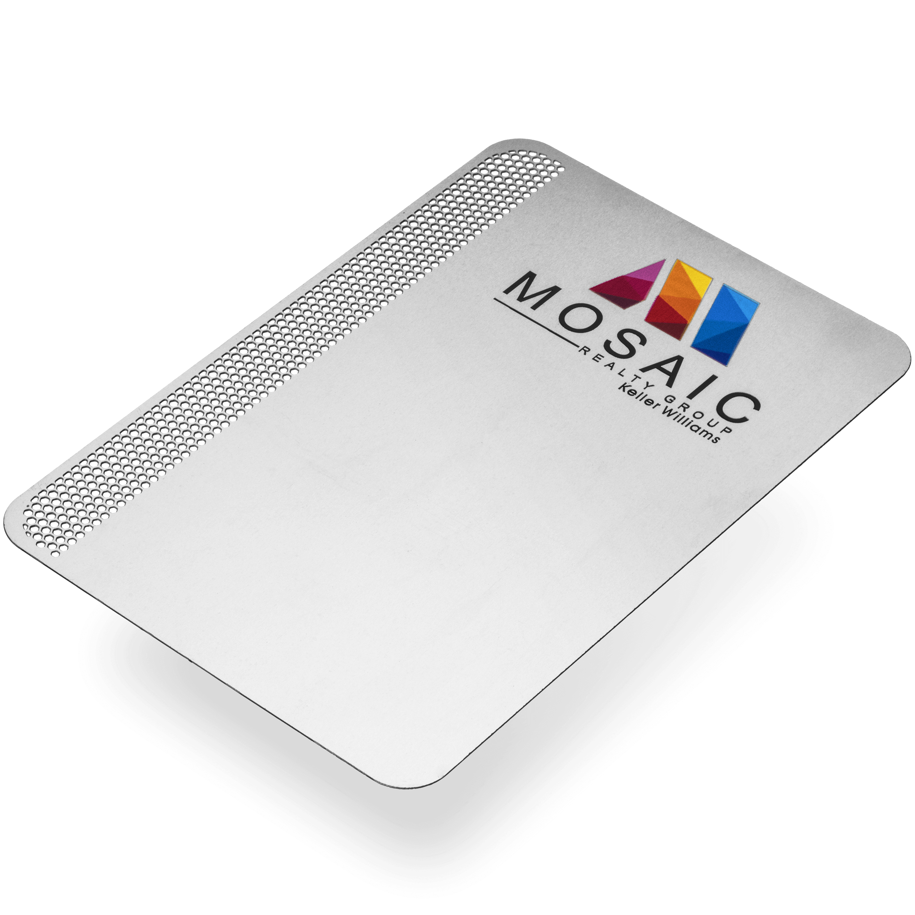 Mosaic Transparent Stainless Steel Metal Thank You Note