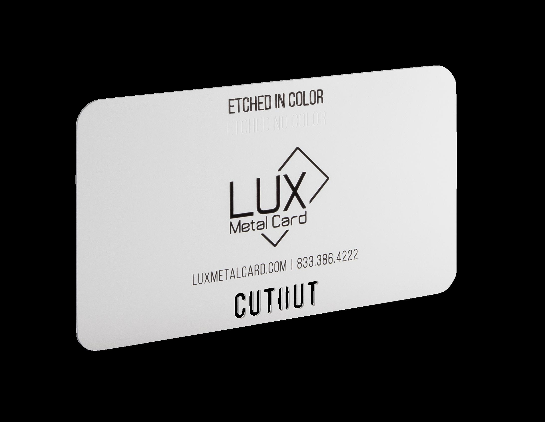 White Matte Metal Business Card